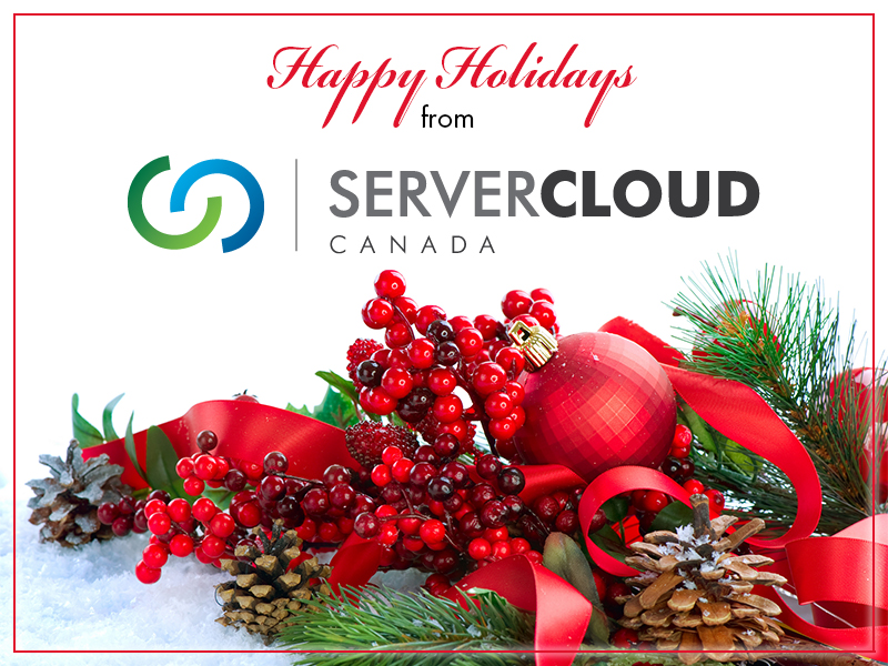happy holidays from server cloud canada